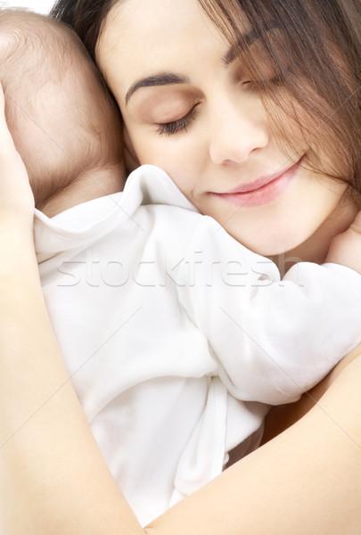 Rodzicielstwo zdjęcie szczęśliwy matka baby chłopca Zdjęcia stock © dolgachov