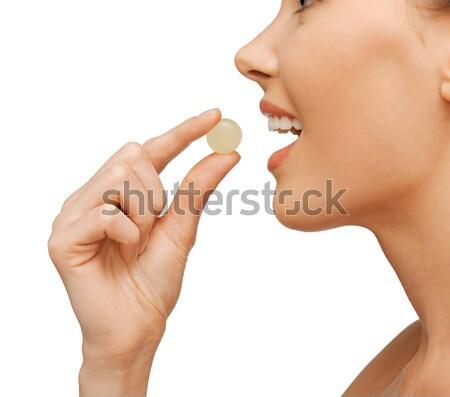 女性 タブレット 明るい 画像 美人 幸せ ストックフォト © dolgachov