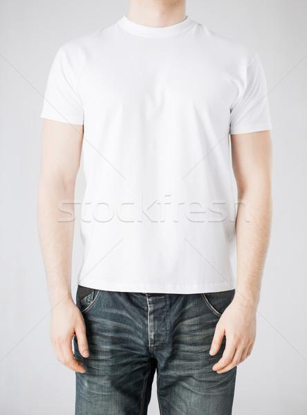 man in blank t-shirt Stock photo © dolgachov