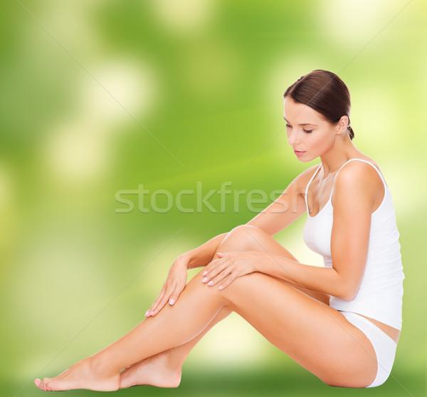 Bella donna bianco cotone intimo salute bellezza Foto d'archivio © dolgachov