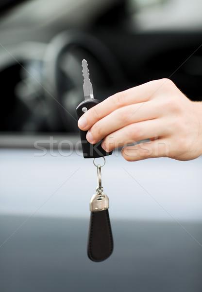 Adam dışında taşımacılık mülkiyet araba Stok fotoğraf © dolgachov