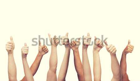 human hands showing thumbs up Stock photo © dolgachov