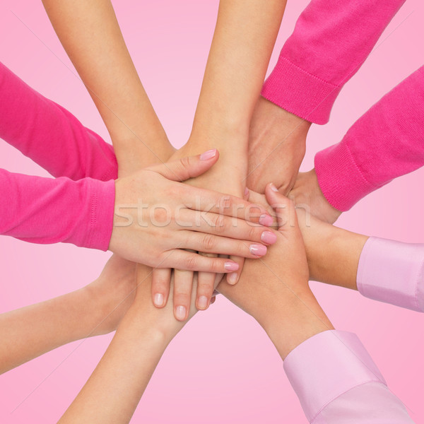 Frauen Hände top Feminismus Macht Stock foto © dolgachov