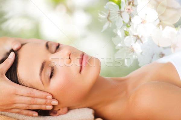 Сток-фото: красивая · женщина · Spa · салона · массаж · красоту · люди