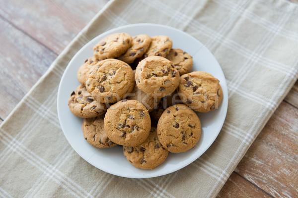 Cioccolato cookies piatto alimentare Foto d'archivio © dolgachov