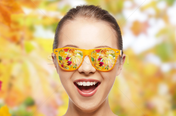 Cara feliz gafas de sol temporada emociones personas Foto stock © dolgachov