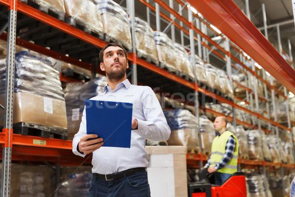 Zakenman magazijn groothandel mensen exporteren Stockfoto © dolgachov