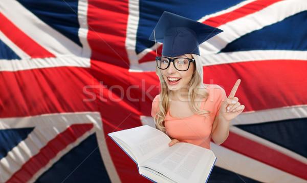 Student vrouw mensen onderwijs kennis Stockfoto © dolgachov