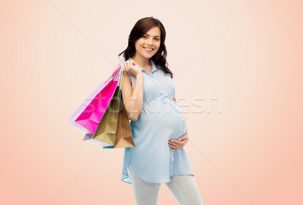 счастливым беременная женщина беременности продажи материнство Сток-фото © dolgachov