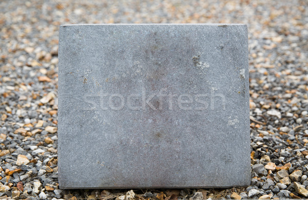 close up of gravestone or memorial stone plate Stock photo © dolgachov