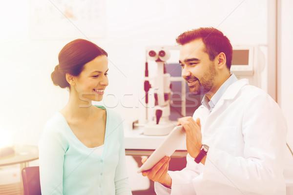Сток-фото: оптик · пациент · глаза · клинике