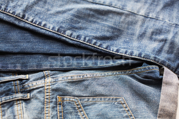 close up of denim or jeans trousers Stock photo © dolgachov
