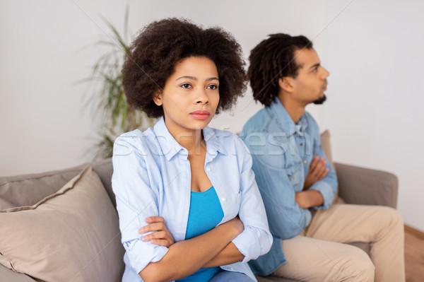 Malheureux couple argument maison personnes relation Photo stock © dolgachov