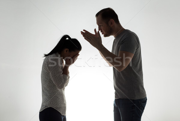 angry couple having argument Stock photo © dolgachov