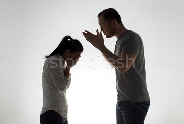 Colère couple argument personnes relation problèmes Photo stock © dolgachov