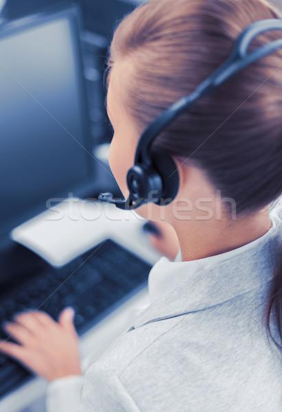 Női segélyvonal kezelő üzlet iroda iskola Stock fotó © dolgachov