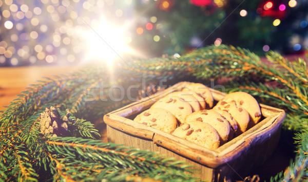 Natuurlijke groene christmas krans haver Stockfoto © dolgachov