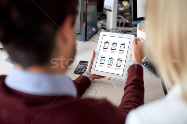 Web utilisateur interface personnes technologie Photo stock © dolgachov