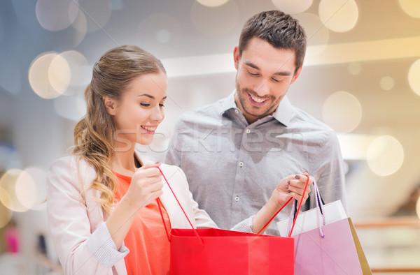Felice mall vendita consumismo Foto d'archivio © dolgachov