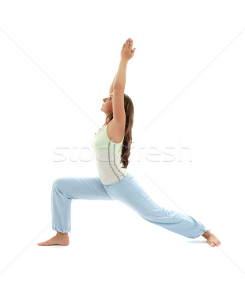 virabhadrasana warrior pose #2 Stock photo © dolgachov