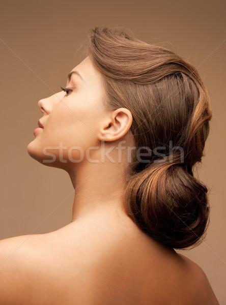 Piękna kobieta jasne portret zdjęcie kobieta Zdjęcia stock © dolgachov