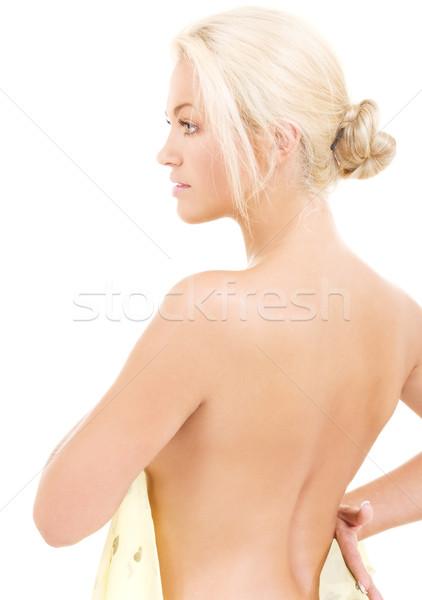 lovely blonde Stock photo © dolgachov