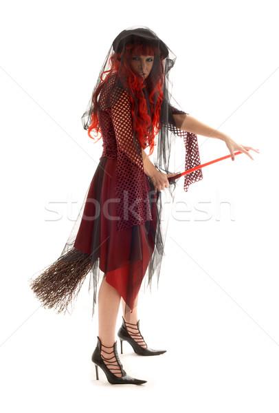 halloween witch Stock photo © dolgachov