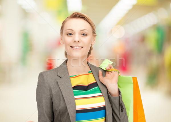 Zdjęcia stock: Zdjęcie · kobieta · szczęśliwy · zakupy