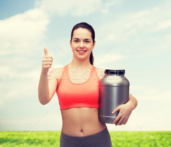 Jarra proteína fitness Foto stock © dolgachov