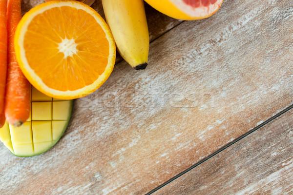新鮮な ジューシー 果物 表 健康的な食事 ストックフォト © dolgachov