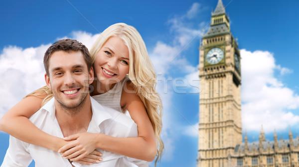 幸せ カップル ロンドン ビッグベン 塔 ストックフォト © dolgachov