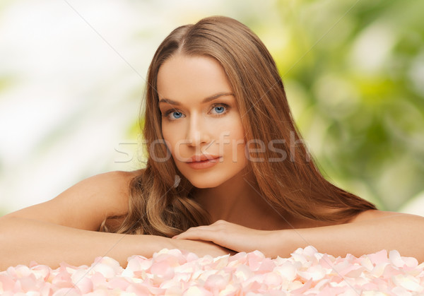 Kobieta długie włosy zdrowia piękna piękna kobieta Zdjęcia stock © dolgachov