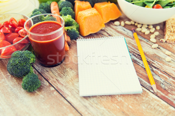 Olgun sebze defter tablo sağlıklı beslenme Stok fotoğraf © dolgachov