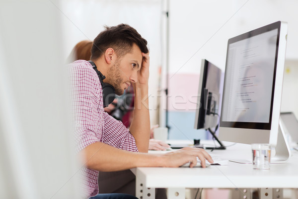 Hangsúlyos szoftver fejlesztő iroda határidő startup Stock fotó © dolgachov