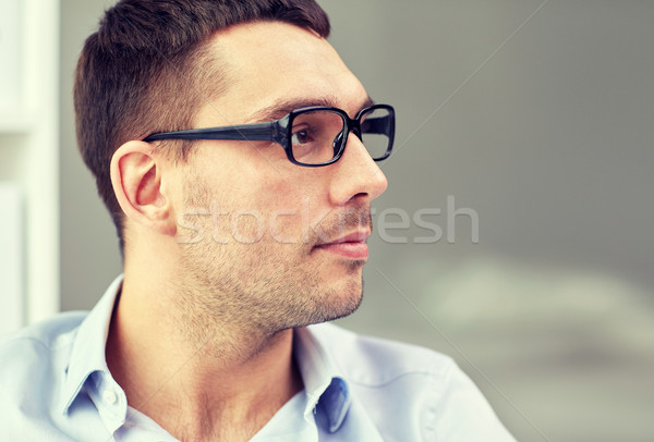 Portrait affaires lunettes bureau gens d'affaires travaux Photo stock © dolgachov