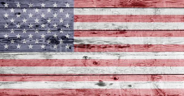 Bandera de Estados Unidos pintado textura día feliz Foto stock © dolgachov