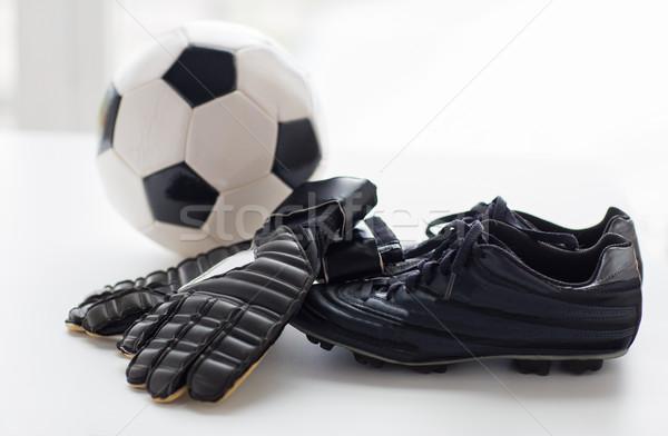 サッカーボール ブーツ 手袋 表 スポーツ ストックフォト © dolgachov