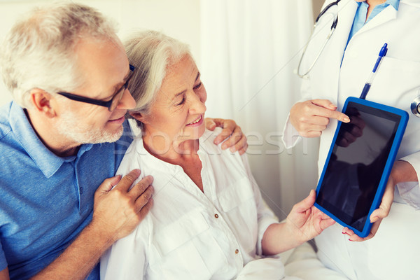 シニア 女性 医師 病院 薬 ストックフォト © dolgachov