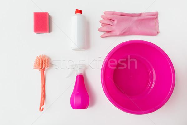 Stock fotó: Takarítás · fehér · házimunka · háztartás · háztartás · munka
