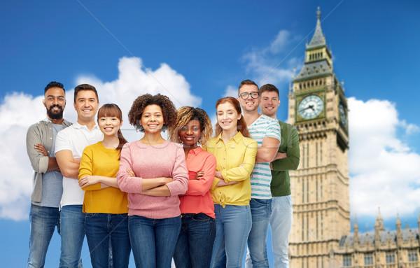 Internazionali gruppo persone felici Big Ben diversità gara Foto d'archivio © dolgachov