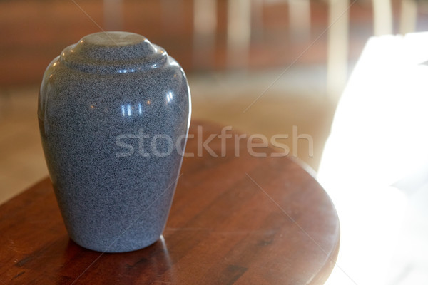 cremation urn on table in church Stock photo © dolgachov