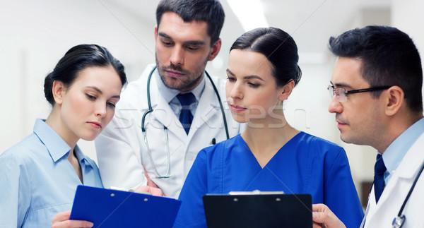 Csoport kórház klinika emberek egészségügy gyógyszer Stock fotó © dolgachov