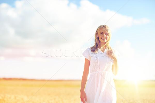 счастливым зерновых области счастье Сток-фото © dolgachov