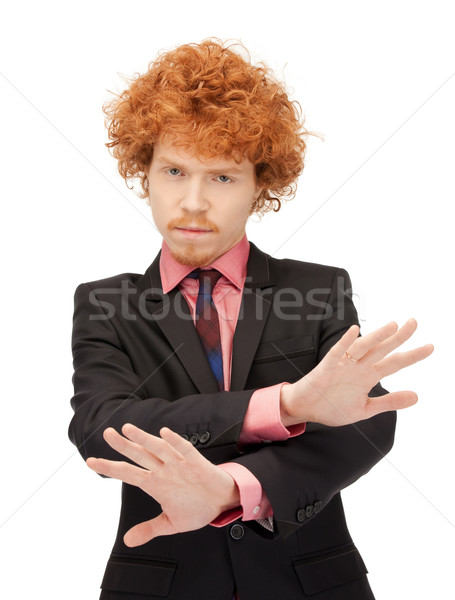 man making stop gesture Stock photo © dolgachov