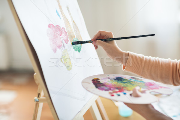 Künstler Palette Malerei Kunst Studio Kreativität Stock foto © dolgachov