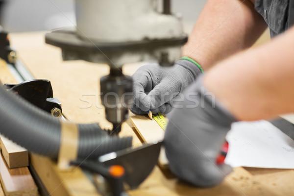 Charpentier souverain bord atelier production Photo stock © dolgachov