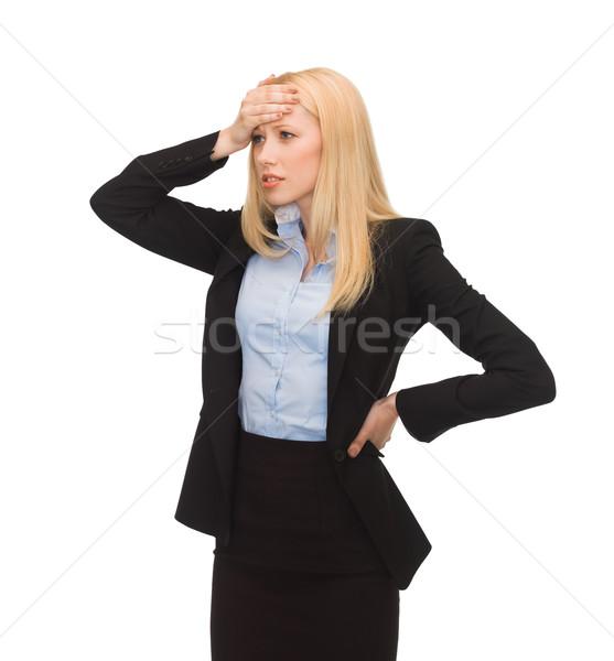 stressed woman Stock photo © dolgachov