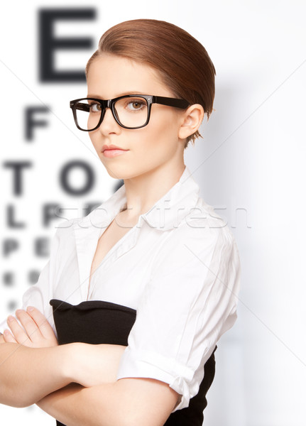 Foto d'archivio: Donna · occhi · grafico · medicina · visione