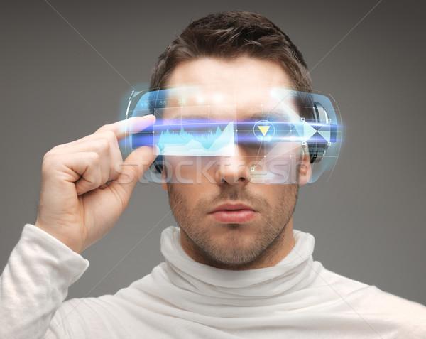 человека футуристический очки будущем технологий люди Сток-фото © dolgachov