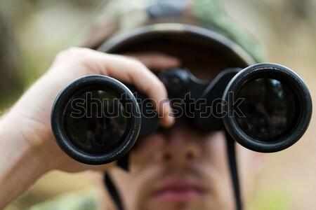 Soldado caçador caça guerra exército Foto stock © dolgachov